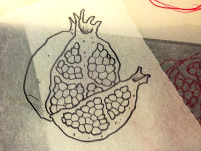 pomegranate tattoo 1