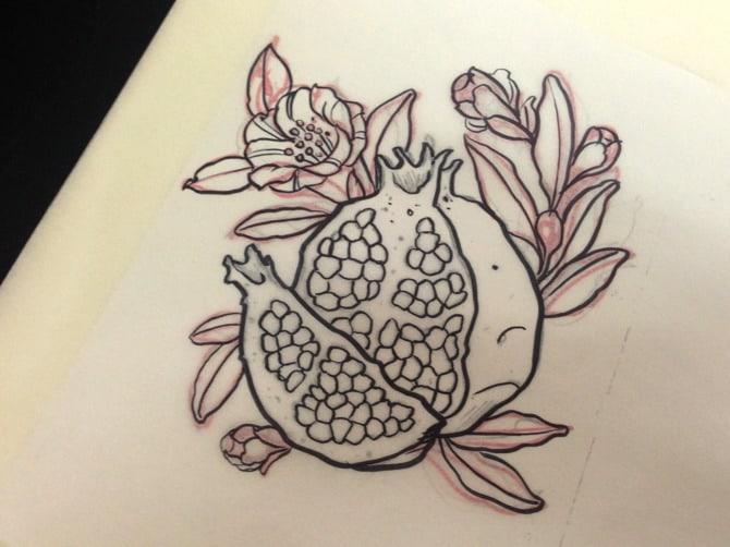 pomegranate tattoo 2