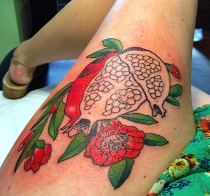 pomegranate tattoo 7