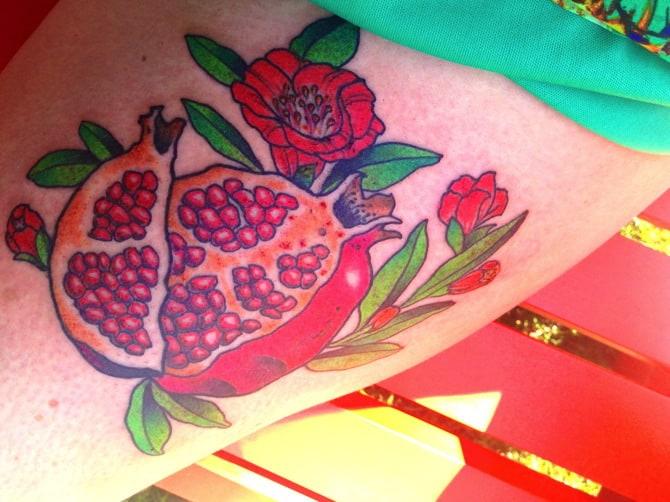 pomegranate tattoo 8