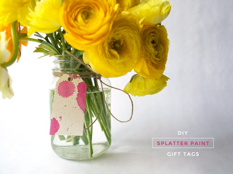 DIY Splatter Paint Gift Tags