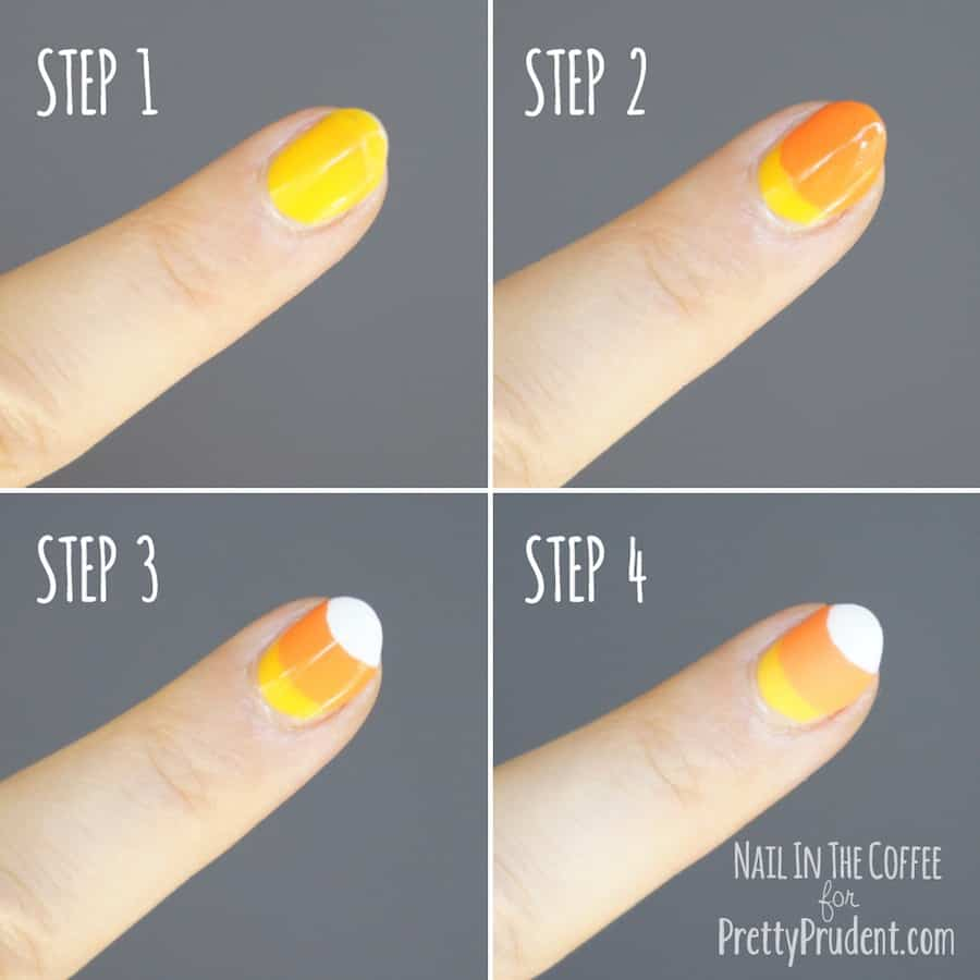 Candy Corn Nail Tutorial | Pretty Prudent