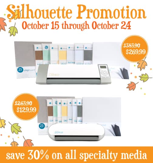 silhouette october 13 promotion