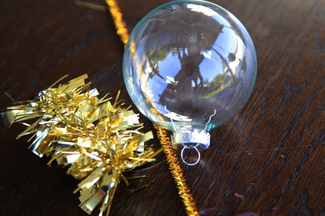 tinsel ornament supplies