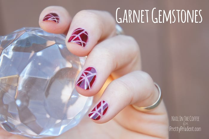 Garnet Gemstones Nail Tutorial