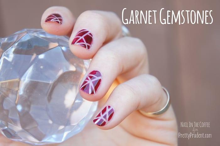 Garnet Gemstones Nail Tutorial
