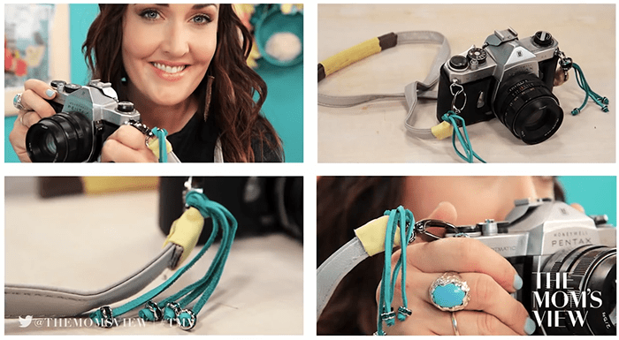 DIY Colorful Camera Strap: The DIY Challenge on the Mom's View