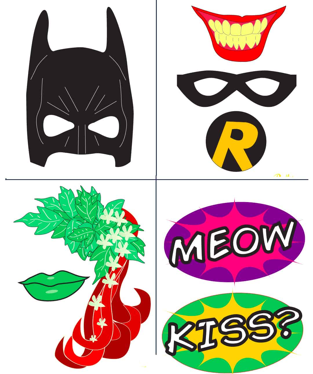 Batman Party With FREE Photobooth Mask Prop Printables