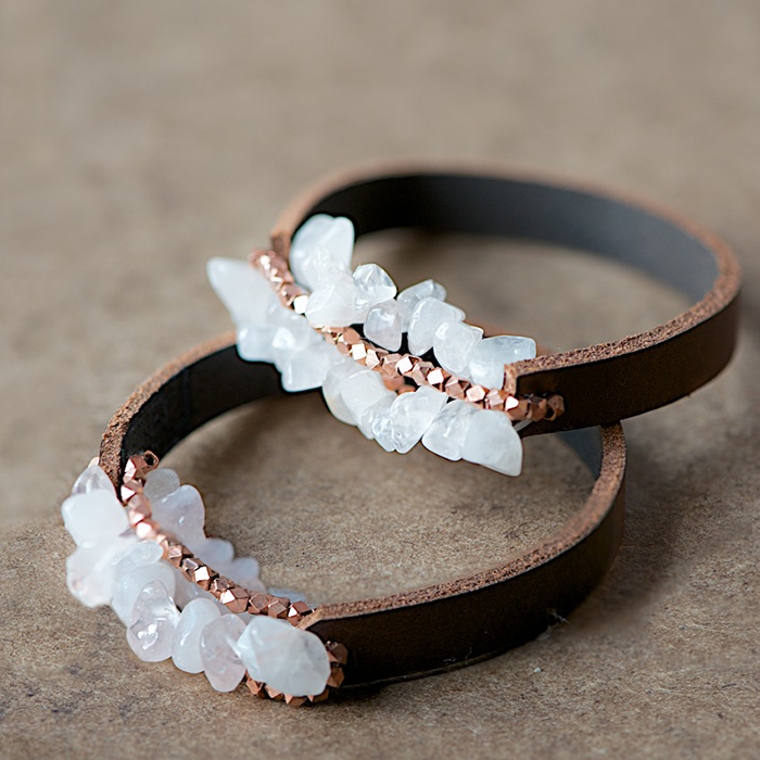 DIY Chunky Leather Bracelet