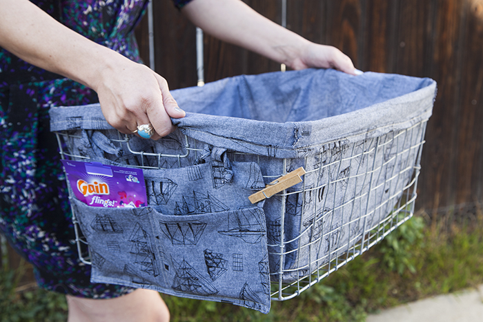 Pretty Laundry Baskets Adorable The Easiest Laundry Basket Liner DIY Ever Pretty Prudent