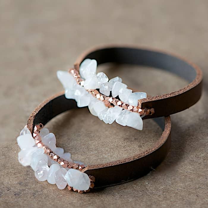 DIY Chunky Leather Bracelet
