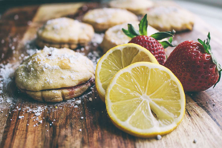 Strawberry Basil and Lemon Basil Hand Pies
