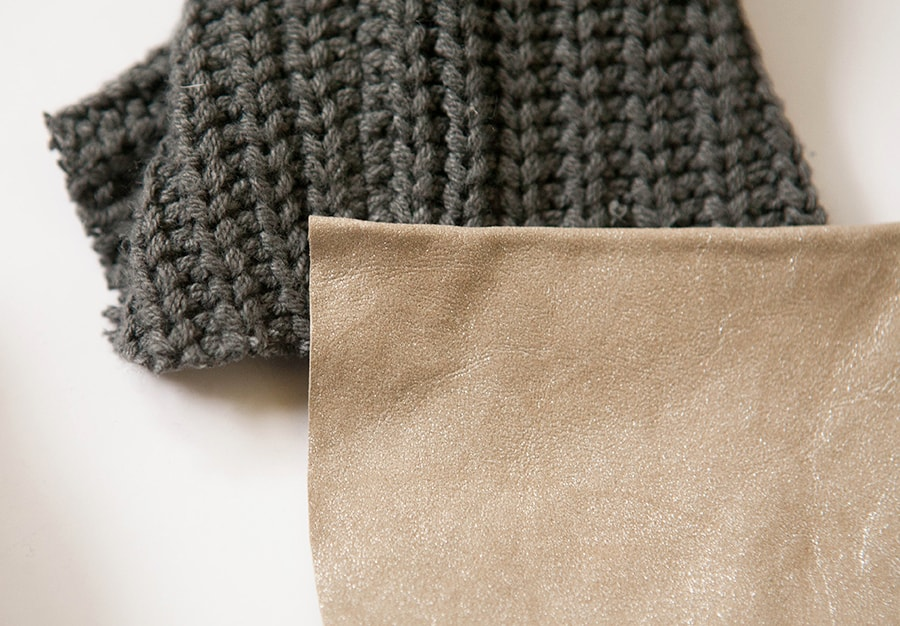 How to Add Leather Cuffs to a Sweater
