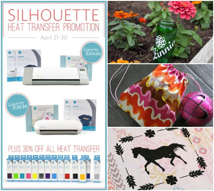 Silhouette Portrait Giveaway + Heat Transfer Material Promo