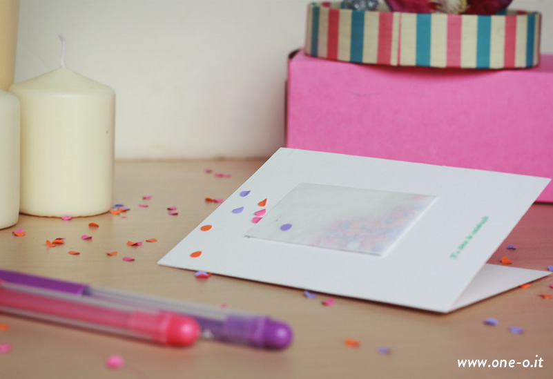 DIY Confetti Party Invitations