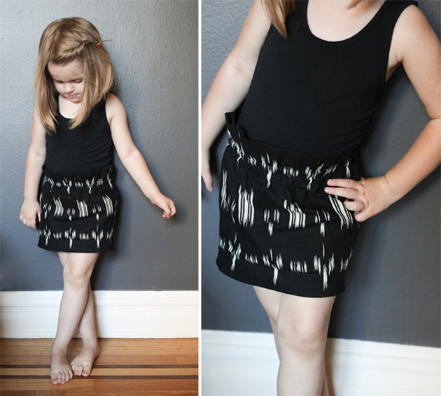 DIY Paperbag Waist Skirt for Girls