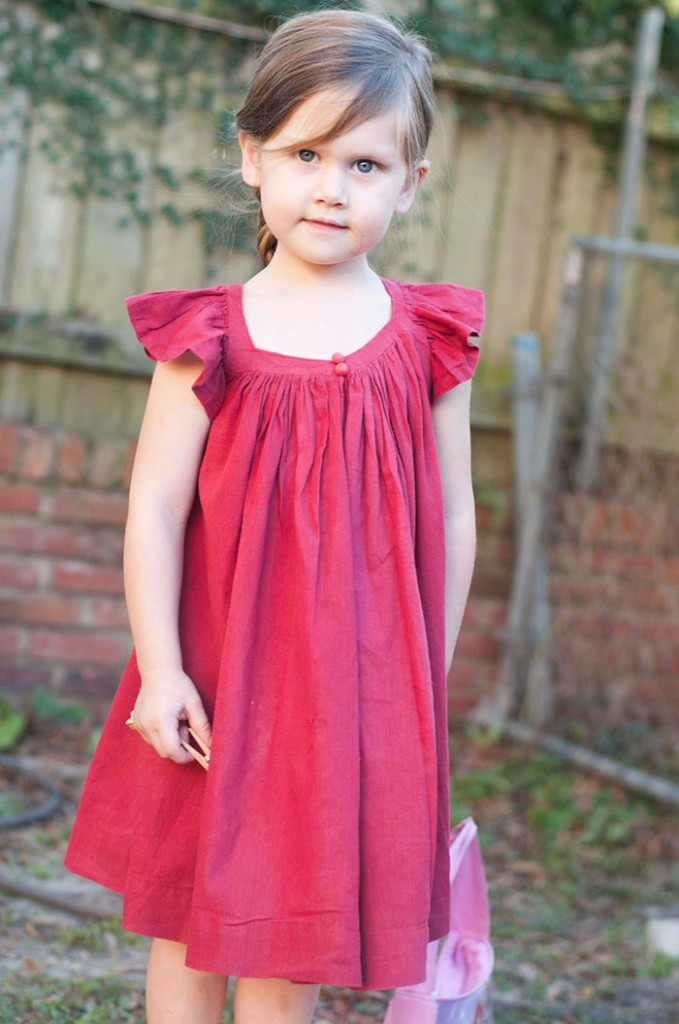 DIY Summer Frock With Gathered Neckline