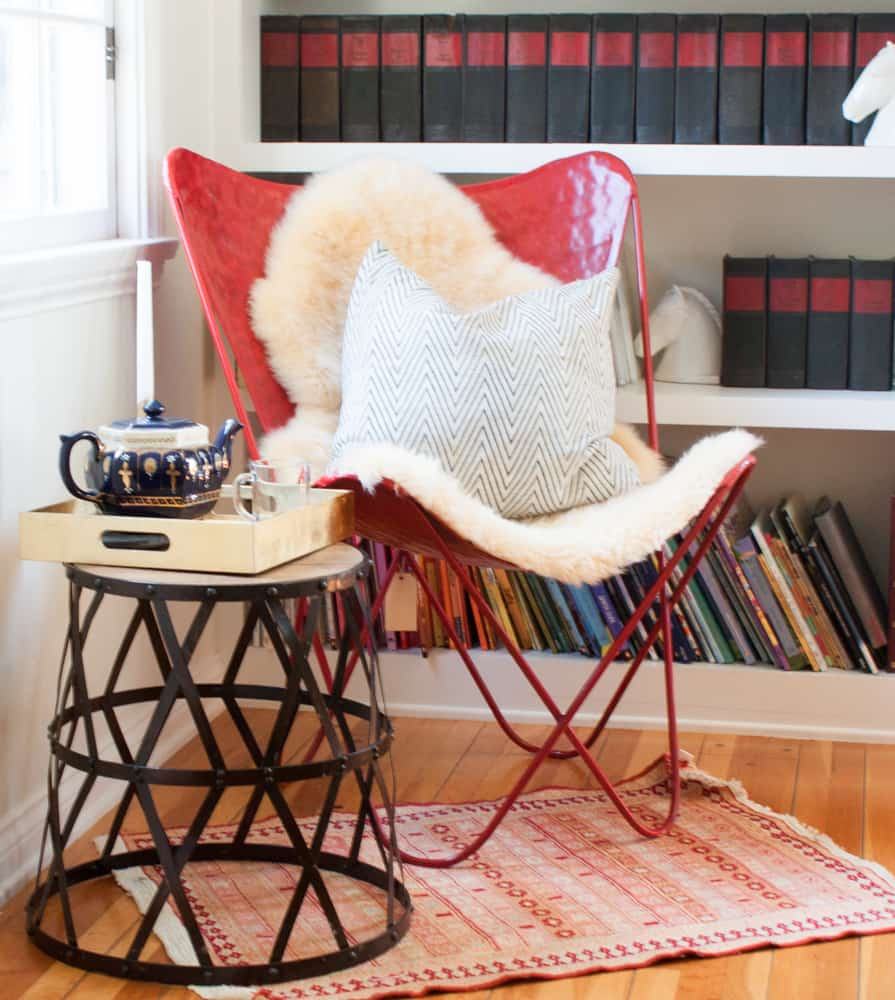 Criss Cross Metal and Wood Stool Giveaway from Lamps Plus at Pretty Prudent 2