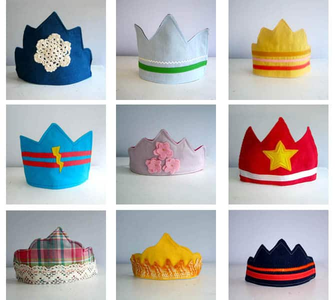 DIY Fabric Crowns (Free Templates)