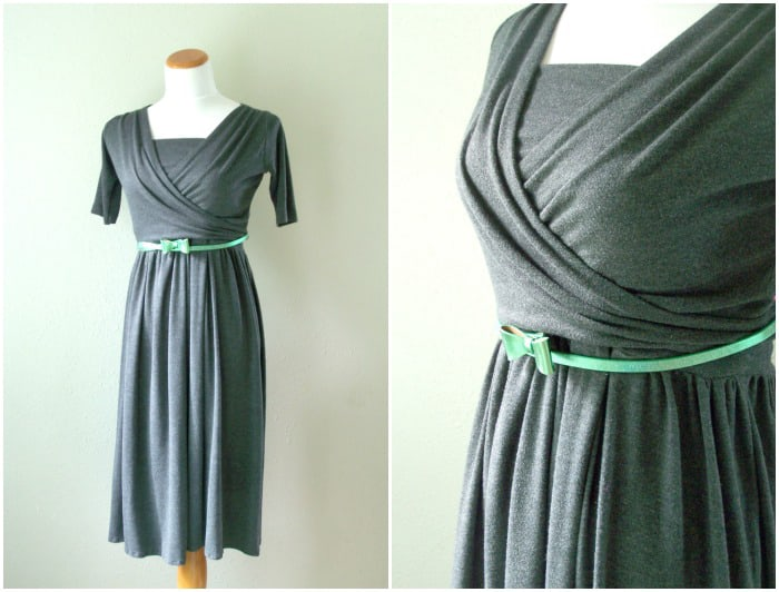 Two Piece Knit Wrap Nursing Dress With Free Pattern
