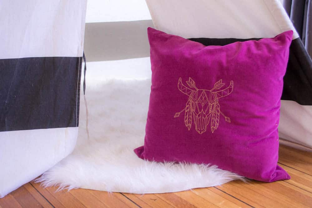 Pretty Prudent Embroidered Pillows - Skull 2