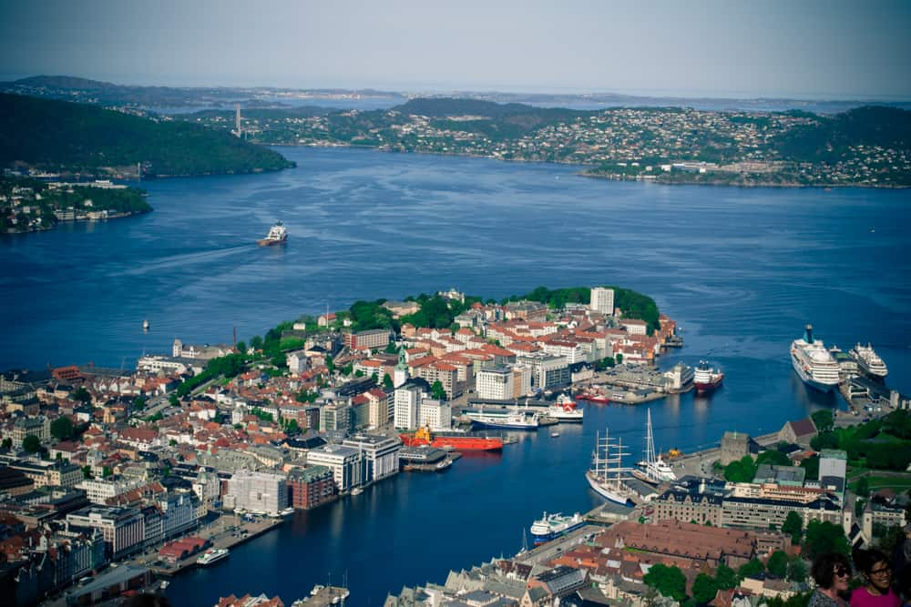 Floibanen Funicular View, Bergen, Norway | Pretty Prudent