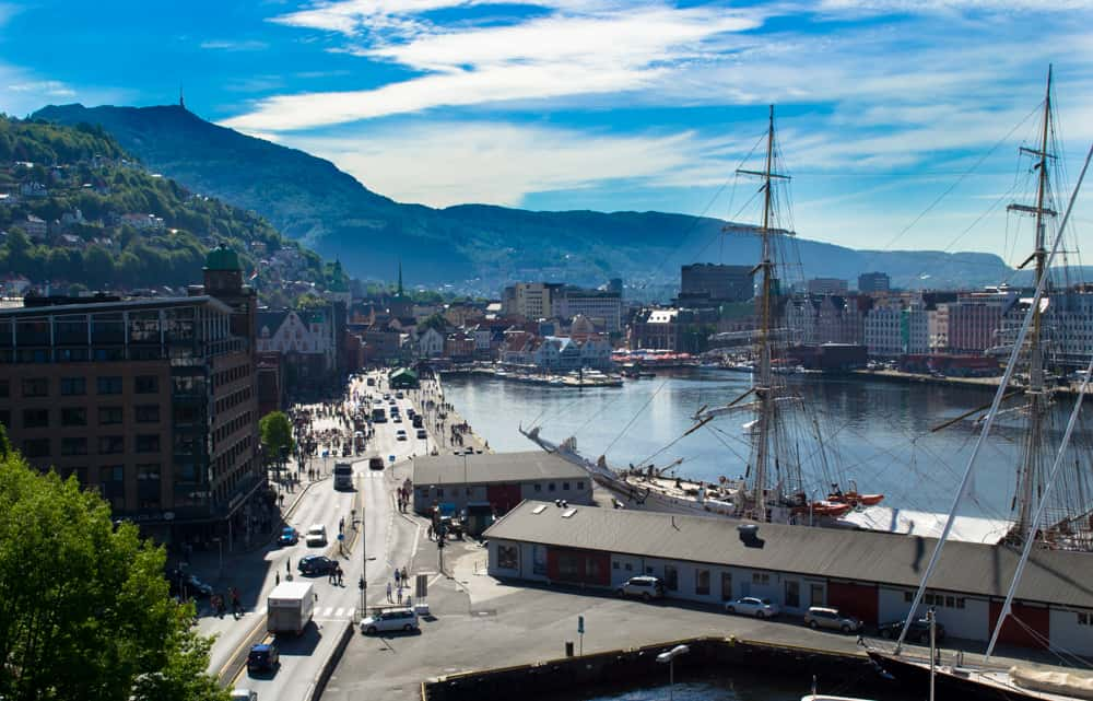 View from Rosenkrantz Tower, Bergen, Norway | Pretty Prudent