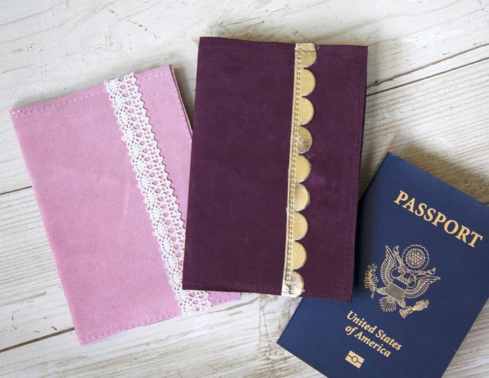 suede passport cover