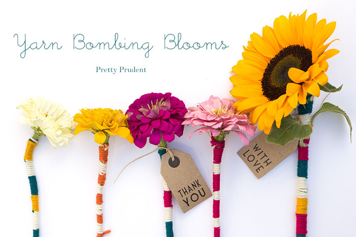 Flower Friday: Yarn Bombing Blooms