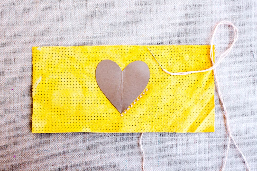 DIY Pencil Case Heart Cross Stitch @prettyprudent