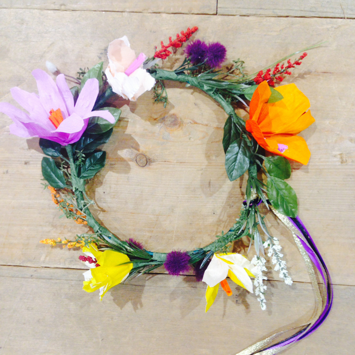 Two Fall Floral Crown Crafting Fiestas with Anthropologie