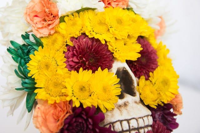 Flower Friday: Day of the Dead Flower Skull