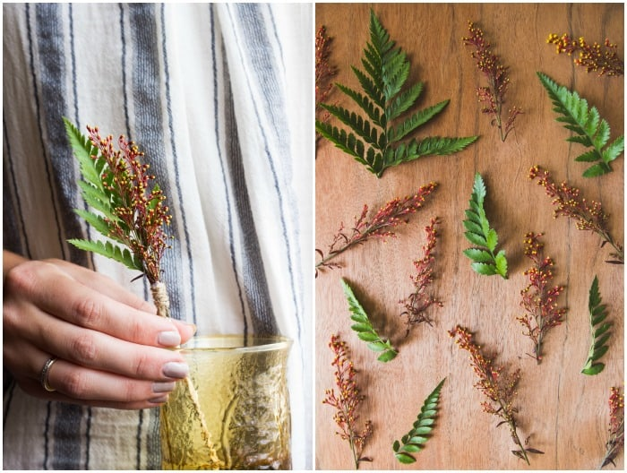 Flower Friday: Fern and Flower Swizzle Sticks