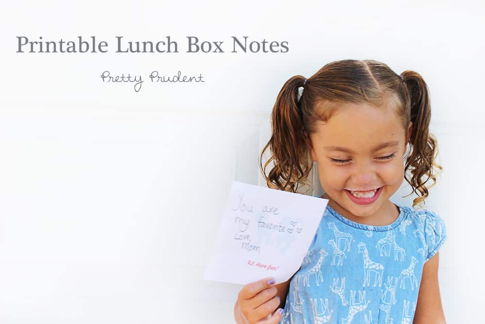 Surprise Lunch Box Notes (with Free Printable)