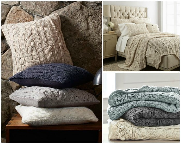 aran sweater bedding