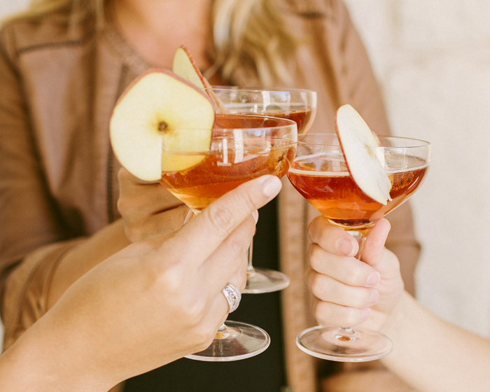 Spiced Apple Champagne Cocktail