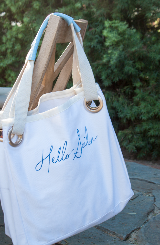 Hello Sailor! DIY Grommet Tote