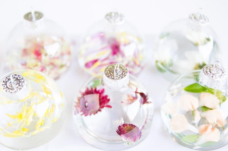Flower Friday: Glass Ornament Vases