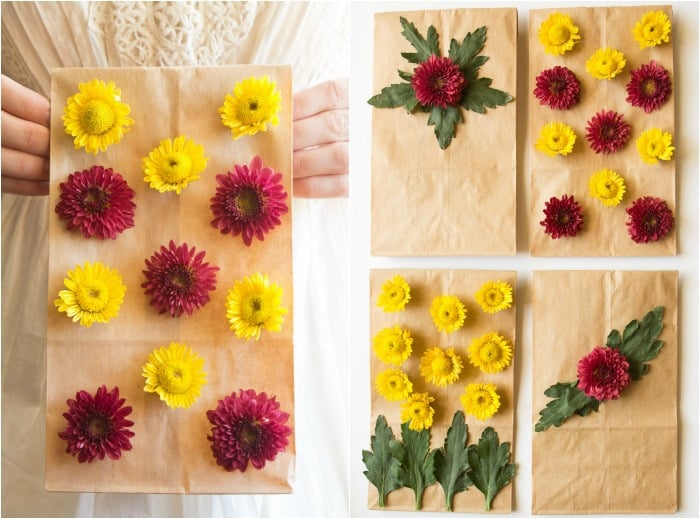 Flower Friday: Decorate Lunch Bags with Blooms