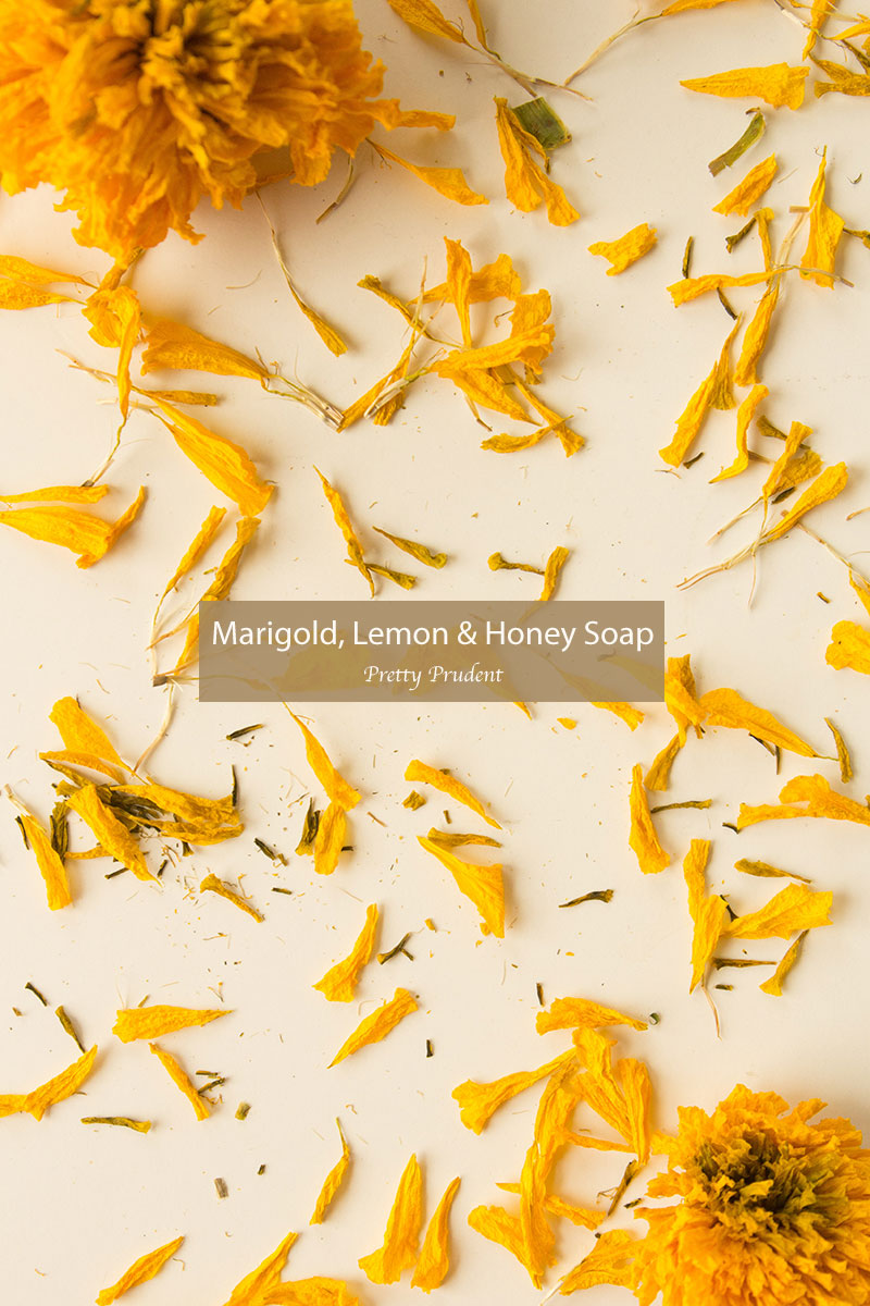 Flower Friday: Marigold, Lemon, and Honey Soap