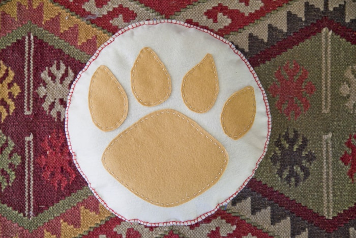 bear paw pillow