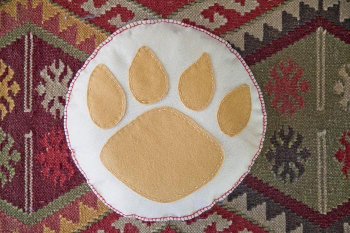bear paw pillow