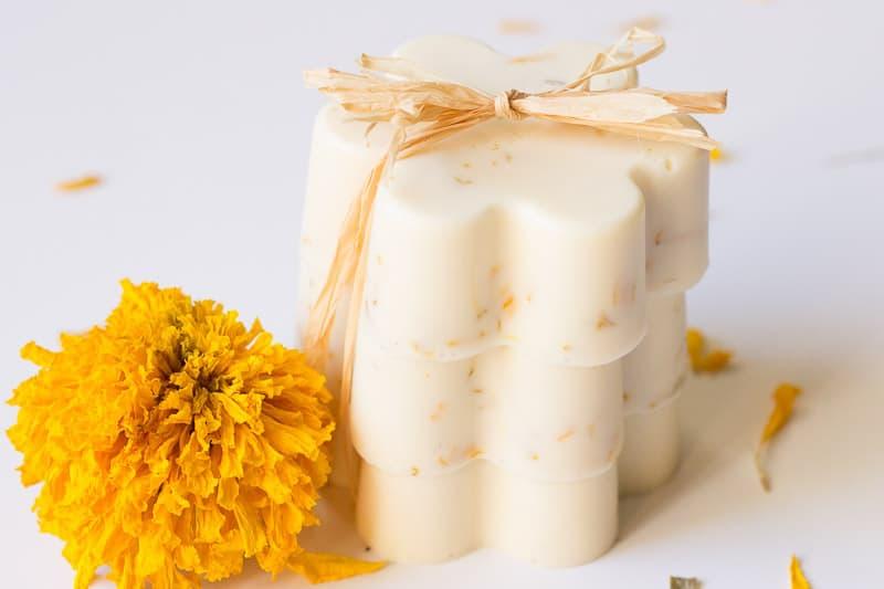 Flower Friday: Marigold, Lemon, and Honey Soap