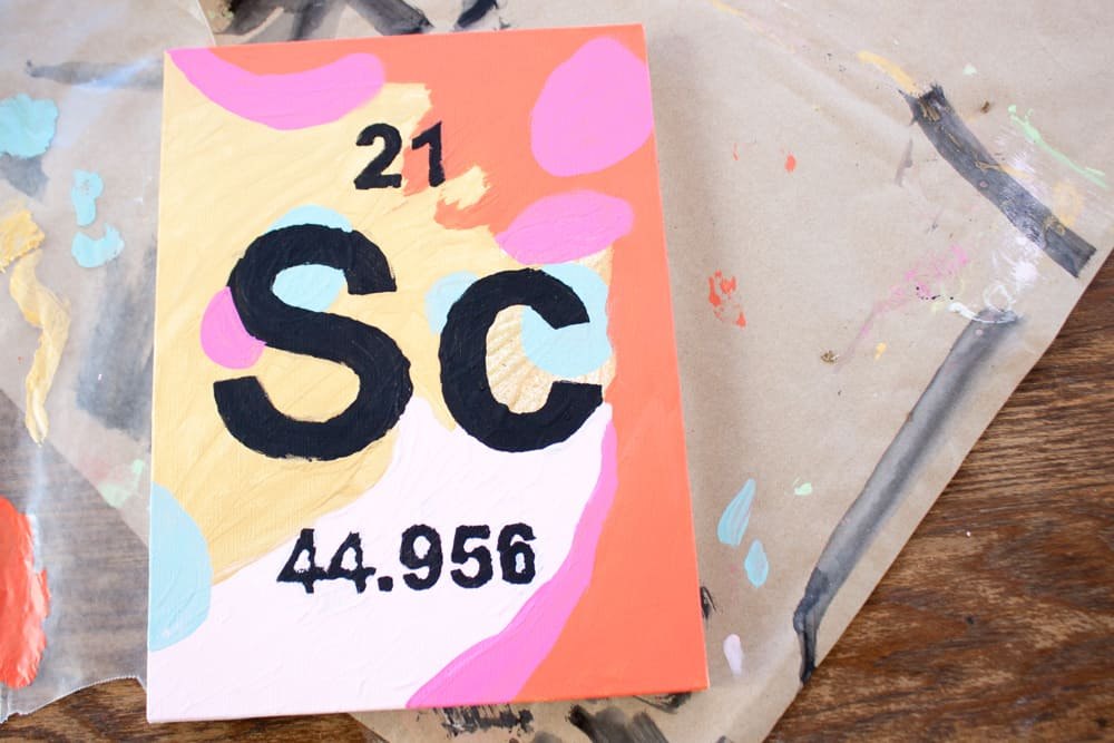 Periodic Table Stencil Art