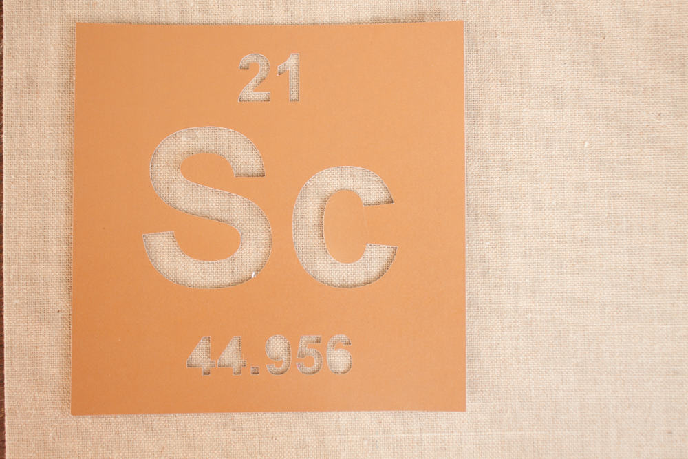 Periodic Table Stencil Art Stencil