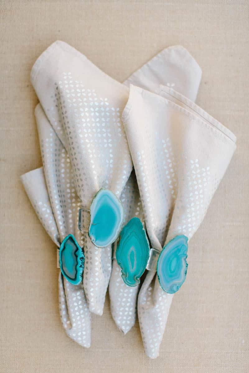 DIY Agate Napkin Rings | Pretty Prudent