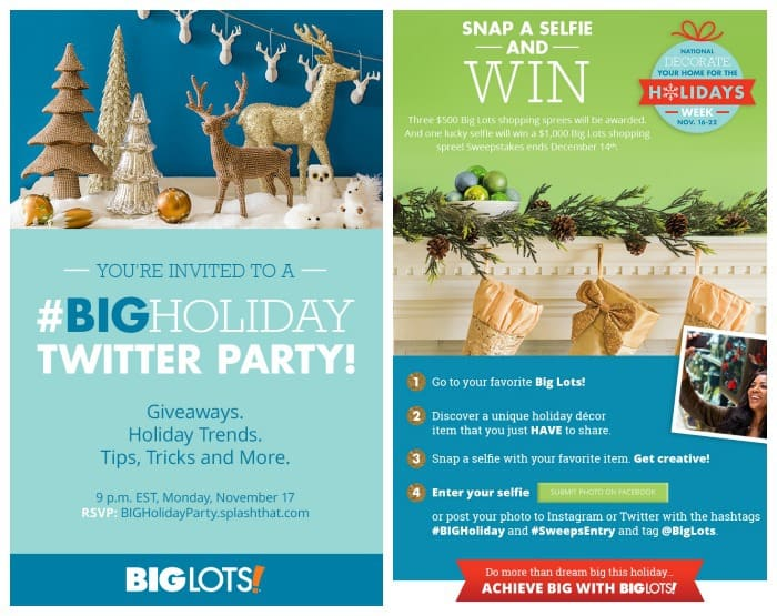 big lots selfie and twitter party