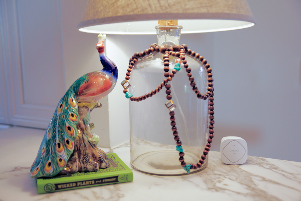 DIY Beaded Bottle Lamp