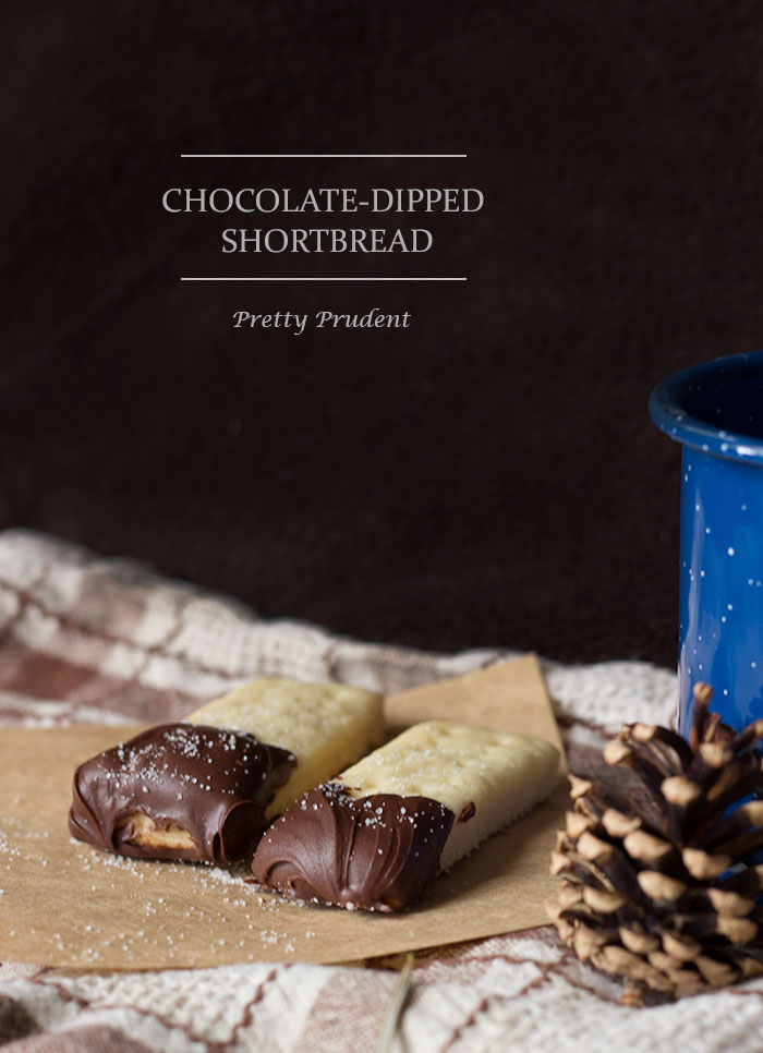 Chocolate-Dipped Shortbread Cookies Recipe | Pretty Prudent