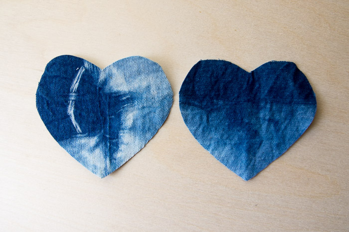 DIY Shibori Heart Hand Warmers